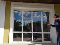Автоматический роллет на витражное окно,Давыдовка