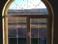Арочное окно с шпроссами